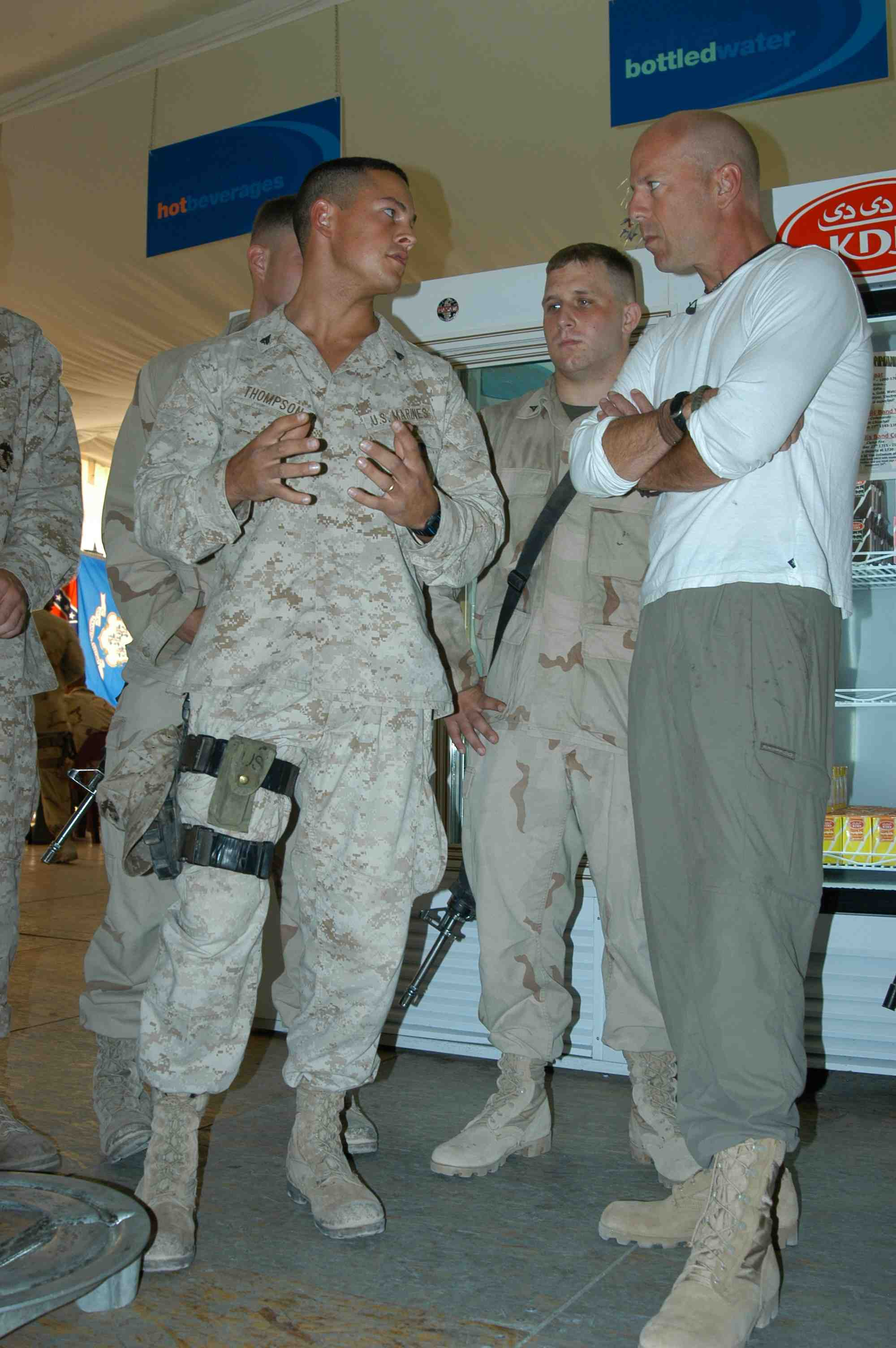 Pictures Of Bruce Willis With Us Military By Bruce Dimattia